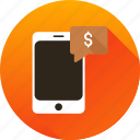 chat, messenger, mobile, money, phone, transaction icon icon