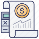 analytics, document, finance, report icon