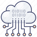 analysis, cloud, data icon