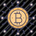 bitcoin, cryptocurrency, money icon