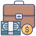 briefcase, business, cash, trade