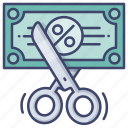 budget, cost, cut, expense icon