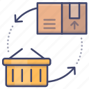 demand, market, supply, trade icon