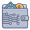 balance, money, virtual, wallet icon
