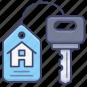 estate, house, key, real icon