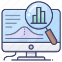 computer, finance, statistics, report icon