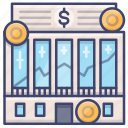 exchange, institution, market, stock icon