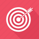 arrow, goal, target icon