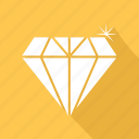 brilliant, diamond, gem, gemstone, jewel, premium icon