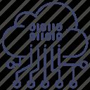 analysis, cloud, data icon