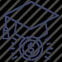 degree, economics, economist, education icon