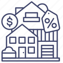 real, estate, building, house icon