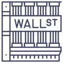 economics, finance, landmark, wallstreet icon