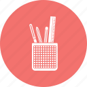 geometry box, pencil, pencil box icon