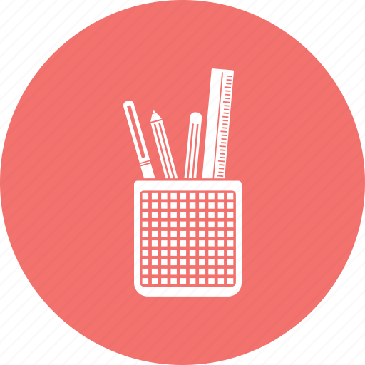geometry box, pencil, pencil box icon