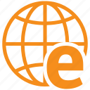 e, global, planet, web, world icon