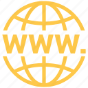 global, link, planet, web, world, www. icon