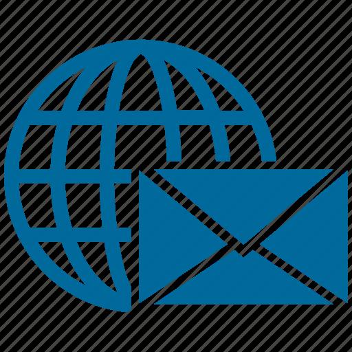 earth, global, globe, mail send, world icon