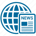 earth, global, globe, news paper, planet icon