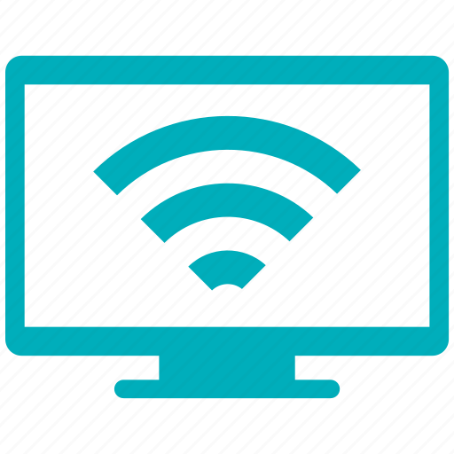computer monitor, computer screen, monitor, screen, wifi icon