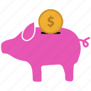 bank, piggy, piggy bank, piggybank, savings