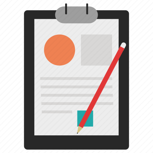 document, notebook, notepad, paper, pencil icon