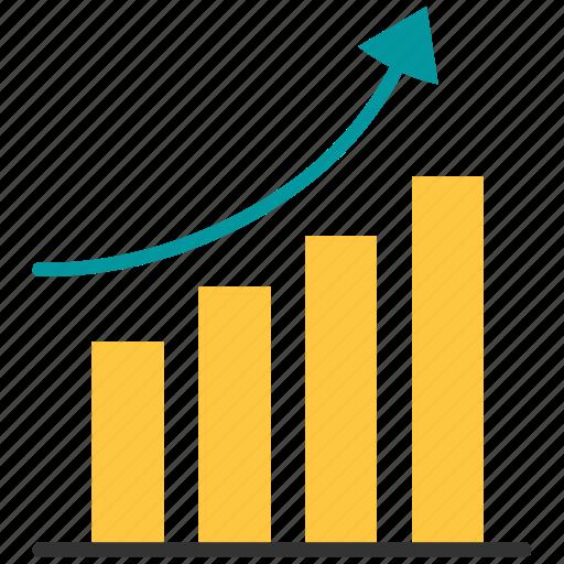 bar, graph, growth, growth bar icon