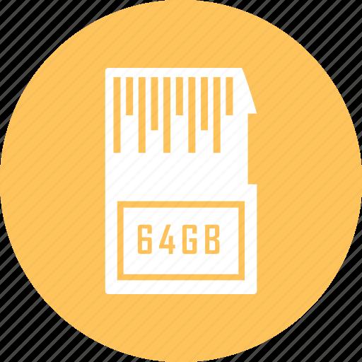 card, memory, micro, sd icon