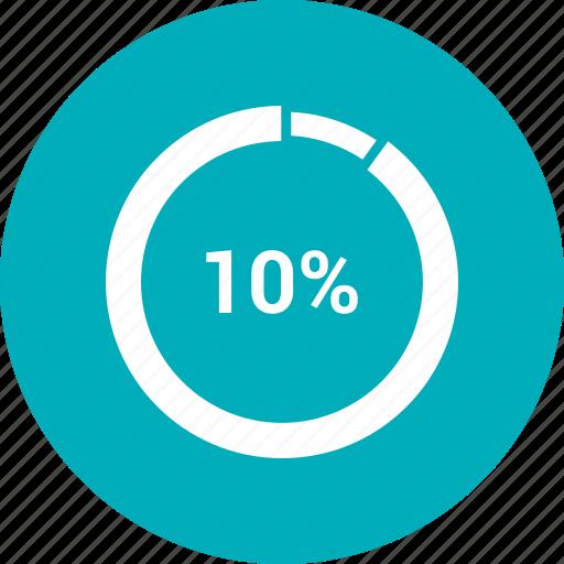 chart, editor, infographic, percentage, pie, ten icon