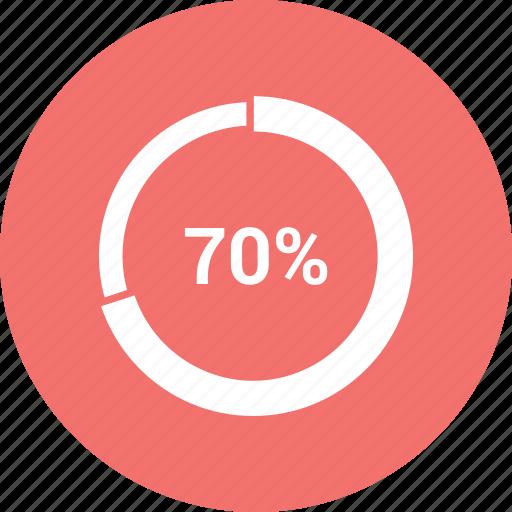 chart, editor, infographic, percentage, pie, seventy icon