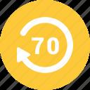 circle, clock, history, seventy icon