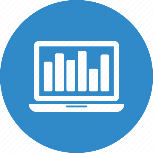 bar, computer, infographic, laptop, macro, mini icon