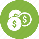 circle, dollar, online, sign icon