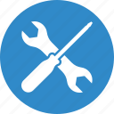 fix, screwdriver, settings, wrench icon