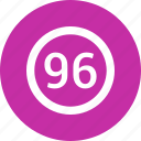 ninty six, number icon