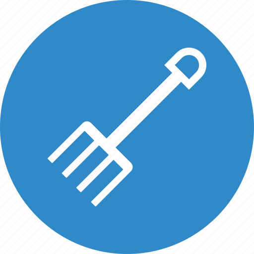 farm, gardening, pitchfork icon