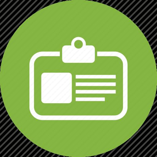 employee card, id card, identity badge, identity card icon