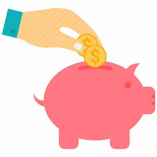 bank, hand, piggy, piggy bank, piggybank, savings icon