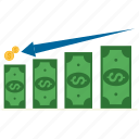dollar, growth, money, profitability, revenue icon