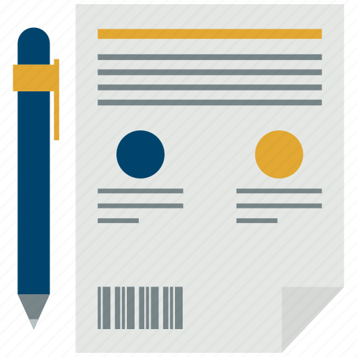 Contract, office paper, paper, pen, sign icon - Download on Iconfinder