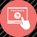 click, hand, laptop, laptop pc, macbook, notebook, online shopping