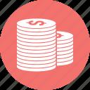circle, coin, dollar