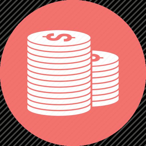 circle, coin, dollar icon