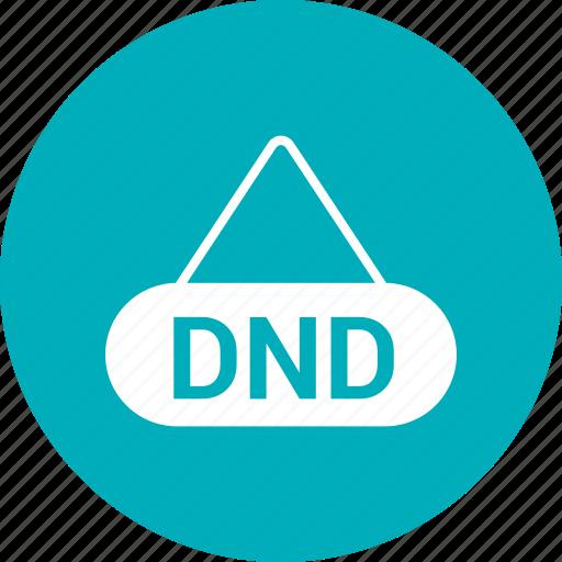 dnd tag, do not disturb, label, tag icon