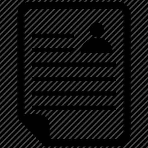 document, file, man, paper icon