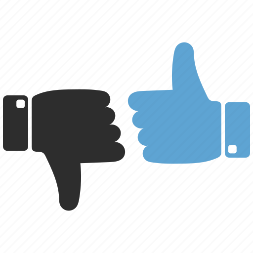 dislike, like, thumbs up icon