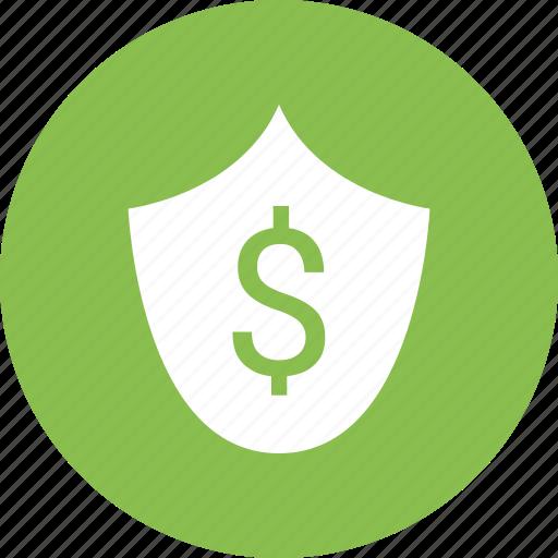 dollar, protect, shield icon