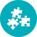 business solutions, puzzle, solution, strategy icon