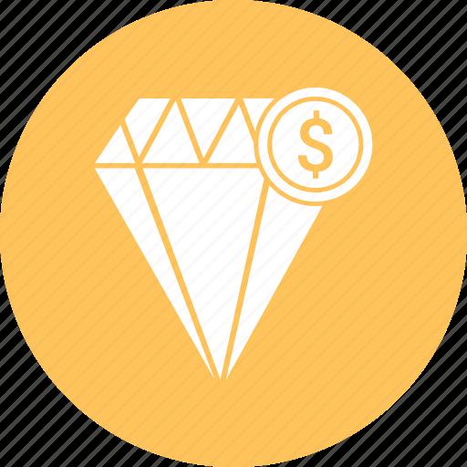 diamond, dollar, jewel icon