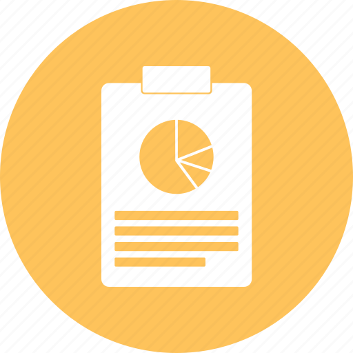 list, notepad, notes, pie chart icon